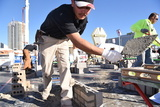 The Masonry Skills Challenge at WOC attracts lots of visitors